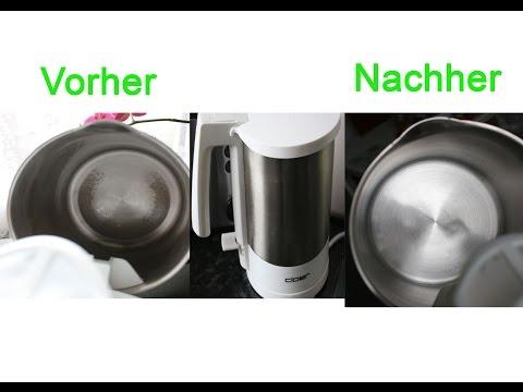 Wasserkocher schnell & einfach entkalken - Water cooker quickly and easily descale