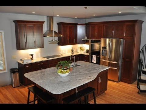 Granite Color Examples for Dark Cabinets - YouTube