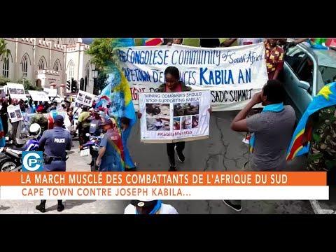 LA MARCH MUSCLÉ DES COMBATTANTS DE L'AFRIQUE DU SUD CAPE TOWN CONTRE JOSEPH KABILA...