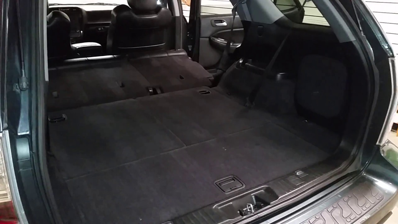 Mdx Cargo Space >> 2006 Acura MDX Touring - Cargo Area With 2nd Row of Seats Folded Down - Checking Storage Space ...