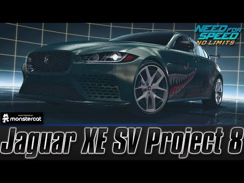 Need For Speed No Limits: Jaguar XE SV Project 8 (MAXXED OUT + Tuning [All Black Edition Parts])