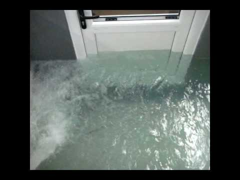 Flash Flood Door Flood Door Barrier Protection Tested Youtube