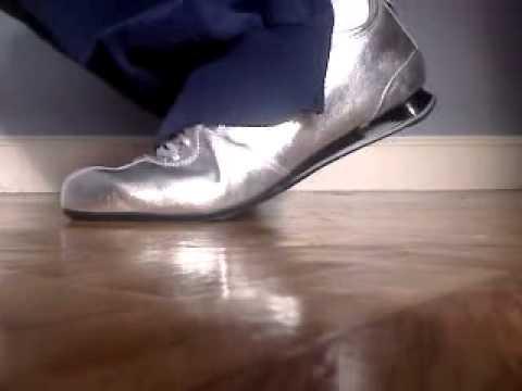 cheaper 16368 e6aaa Nike Shox Rivalry Silver and adidas trousers