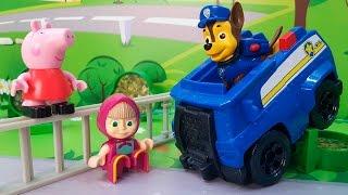 Развивающие мультики для детей с игрушками Щенячий патруль все серии!  видео для детей с машинками