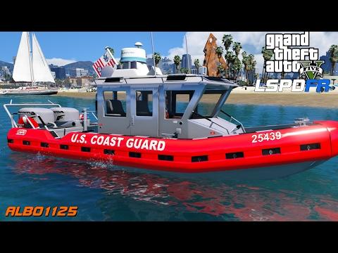 GTA 5 LSPDFR - U.S. Coast Guard Boat Patrol - Vessel Safety Enforcement - Coastal Callouts - Police