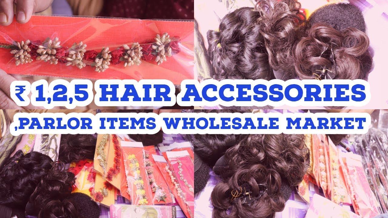 RS 1,2,5 !! Ladies Hair Accessories Wholesale Market ! Beauty Parlor  Accessories ! #sadar #bazar