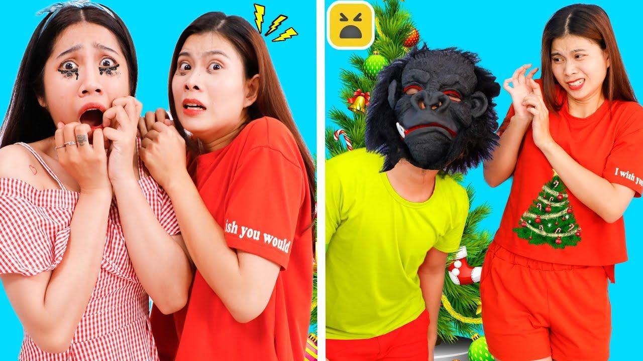 Girl DIY! Best Crazy Funny Halloween Pranks! Funny DIY Couple Pranks! Pretend Play