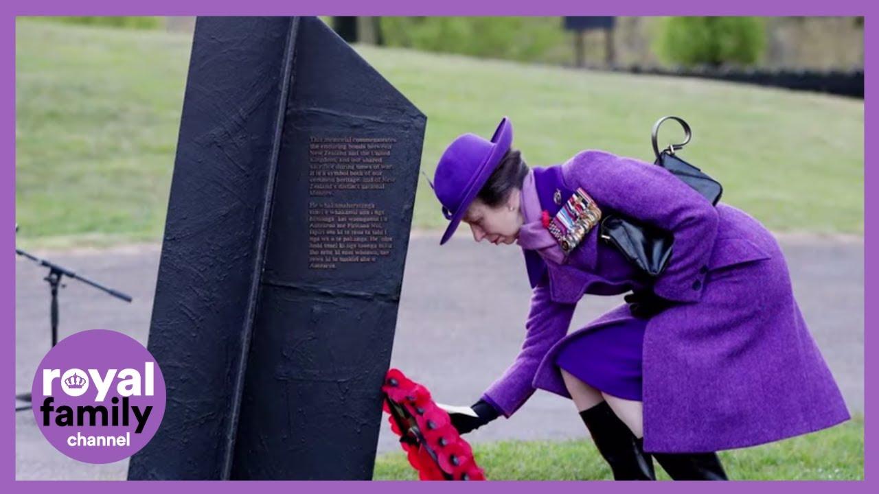 Princess Royal and Duke of Cambridge mark Anzac Day