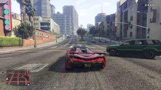 GTA V Car Chase PS4: Grenade Launcher, Sticky Bombs and helicopter takedown