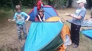 Как установить палатку?ч.2 Мастер-класс от детей детского лагеря