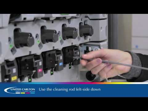 How to use the cleaning rods on Sharp 25ppm - 50pp