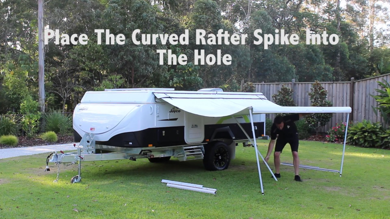 Camper Awning (To suit wind up campers) - YouTube