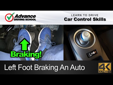 Left Foot Braking An Automatic Car  |  Learn to drive: Car Control Skills