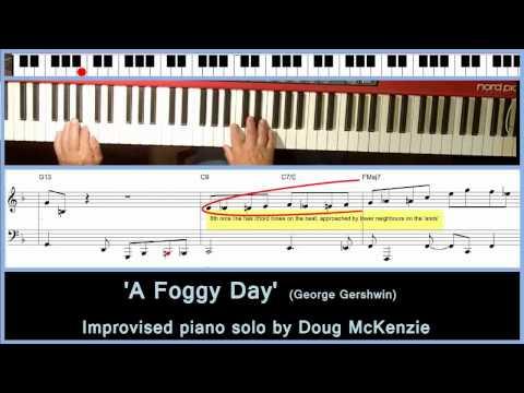 'A Foggy Day' - Solo jazz piano tutorial.