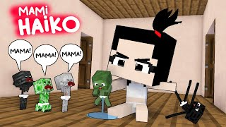 HAIKO BECAME MOMMY FOR A DAY - SUPER CUTE MONSTER SCHOOL - MINECRAFT ANIMATION
