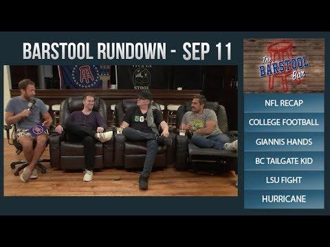 Barstool Rundown - September 11, 2017
