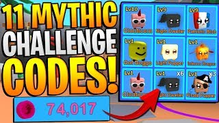 11 ROBLOX MINING SIMULATOR MYTHICAL CHALLENGE CODES! *FREE INFINITE BACKPACK*