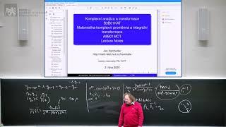 prof. Hamhalter: Komplexní analýza a transformace [14b, 8. 1. 2021, ZS 20/21] 🦠