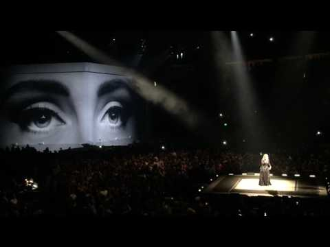 """ Hello ,"" by Adele ( LIVE at Key Arena in Seattle on July  26, 2016 )"