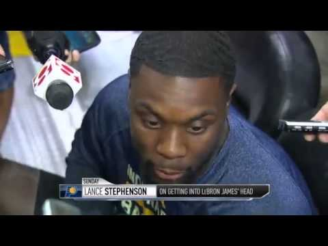 GameTime  Lance Stephenson s Comments On LeBron s Trash Talk   May 26, 2014   NBA Playoffs 2014