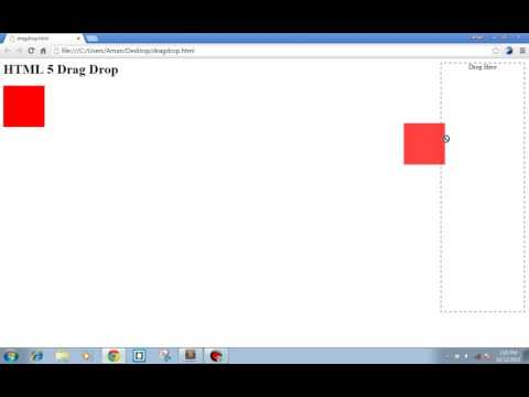 HTML 5 Drag And Drop