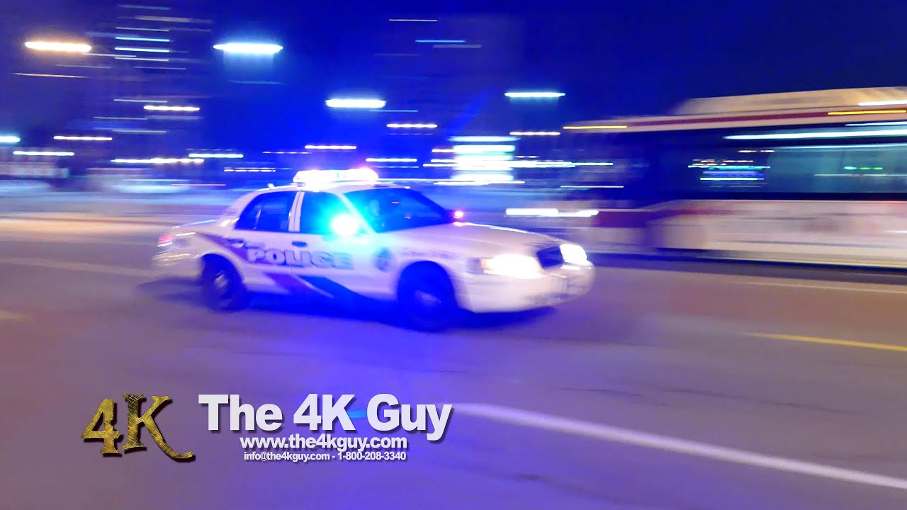 Toronto: Police cars flying by with lights & sirens 11-10-2015 ...