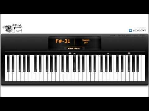 Virtual Piano - Claude Debussy Clair de lune