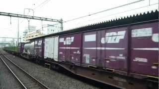 【常磐線】75レ EF81-133牽引 貨物列車 北千住通過