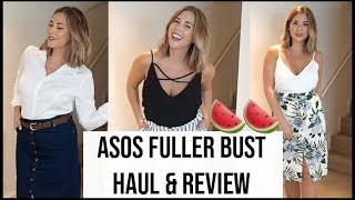 ASOS Fuller Bust Review - Curvy Try On Haul and Lookbook   Size 12-14 DD+   xameliax