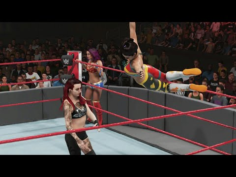 WWE 2K19 - BAYLEY U0026 SASHA BANKS VS THE RIOTT SQUAD (WITH LIV)   RAW