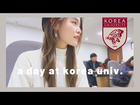 Day in the Life of a University Student | Korea University 🇰🇷