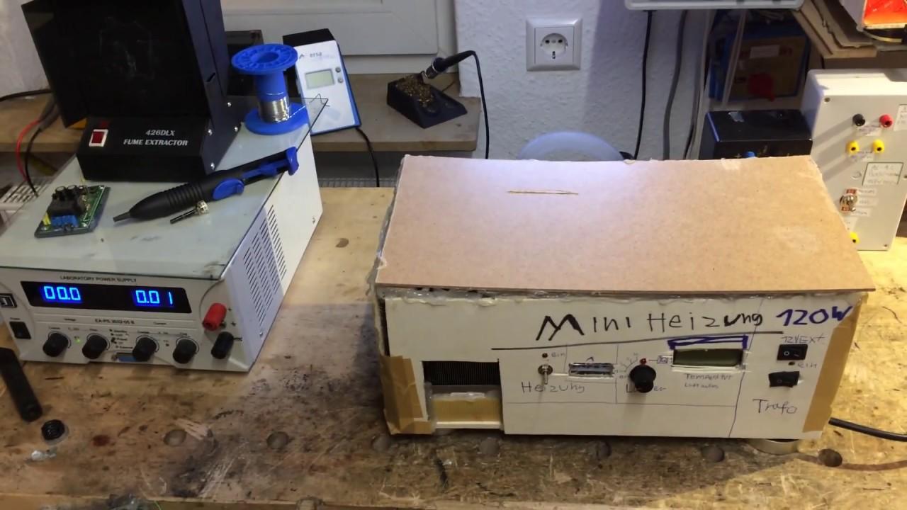 Bekannt Mini Heitzung selber gebaut 12V 230V 120 Watt - YouTube AV86