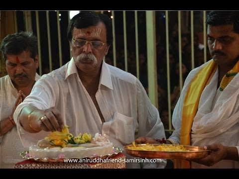 Aniruddha Bapu doing Paduka Pujan of Shree Sainath at Shree Aniruddha Gurukshetram, Khar