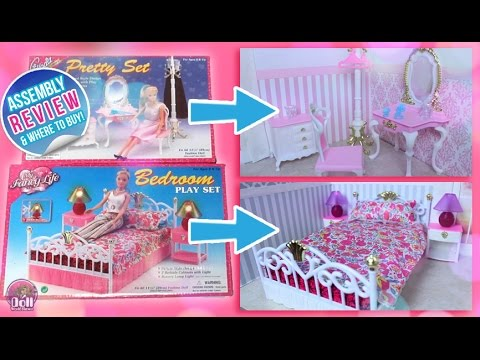 Charmant Barbie Bedroom Set U0026 Pretty Set By Gloria Assembly And REVIEW!!
