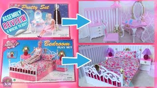 Barbie Bedroom Set & Pretty Set by Gloria Assembly and REVIEW!!