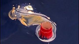 Open Cup Pour/Negative Space/acrylic Pour/ 'Neverland'