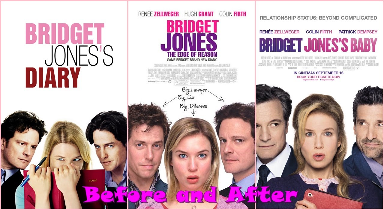 bridget jones movies 1 2 and 3 before and after antes y despu s youtube. Black Bedroom Furniture Sets. Home Design Ideas