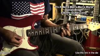 James Brown It's A Man's Man's World Guitar Cover LESSON LINK BELOW @EricBlackmonGuitar