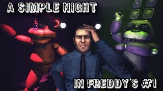 SFM| A Simple Night in Freddy's| Part 1