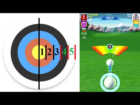 Golf Clash tips, Wind Guide - Learn the ringsystem! Including Elevation, Min-Mid-Max and Powerball
