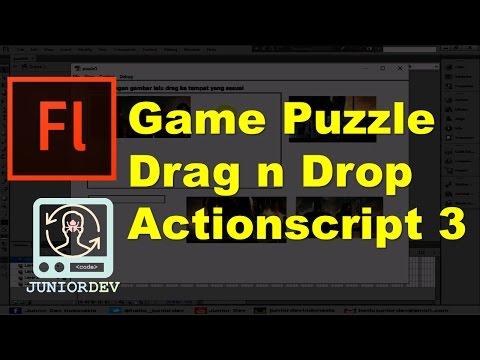 Membuat Permainan Puzzle Drag N Drop Dengan Actionscript 3   Tutorial Adobe Flash (part 26)