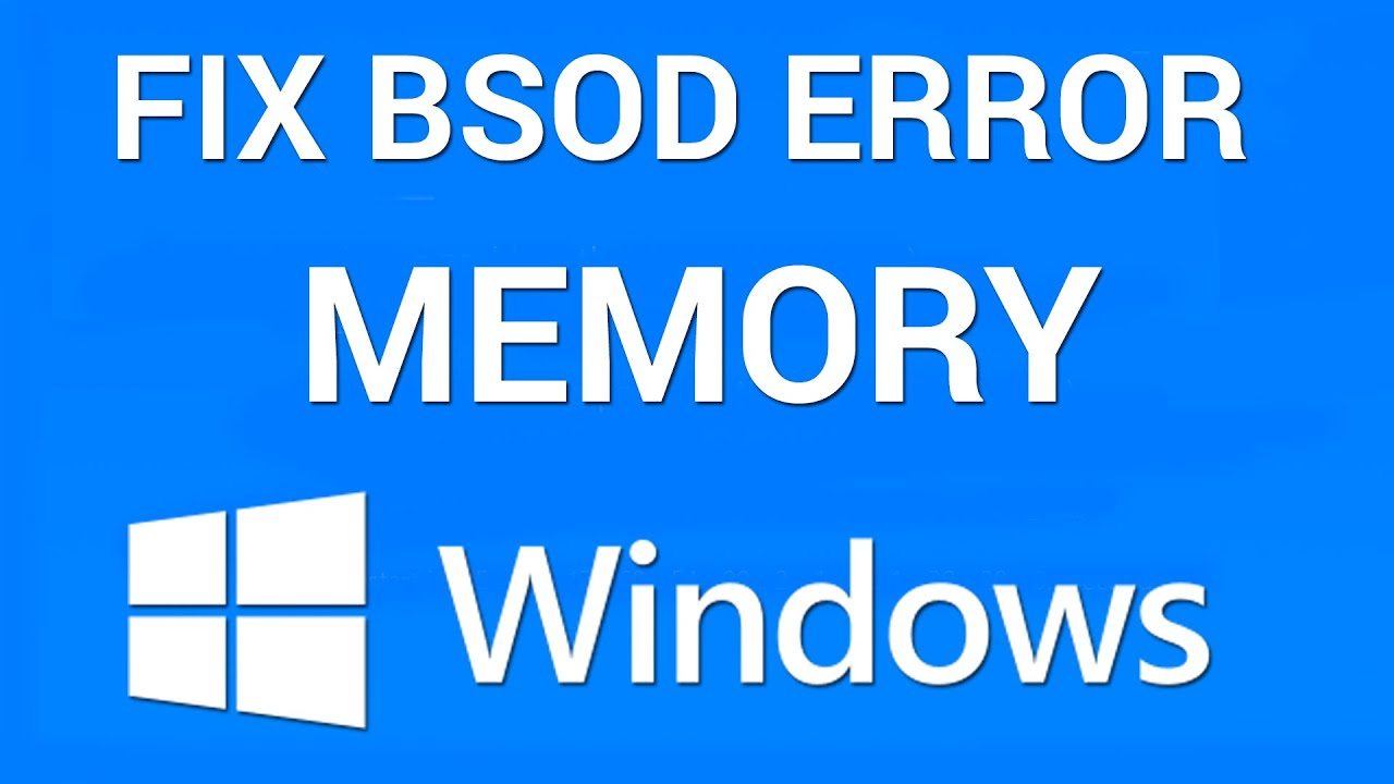 How To Fix Blue Screen Memory Management Error Youtube