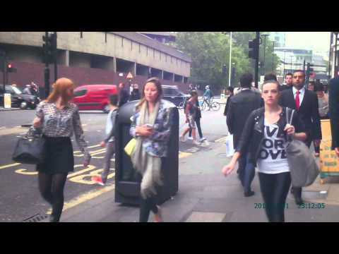 The morning & evening Commuter rush hour at Barbican Station, London - (a people watching video).