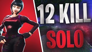 FORTNITE - Brilliant Striker 12 Kill Solo WIN - Stream Highlights - 2018 new skins