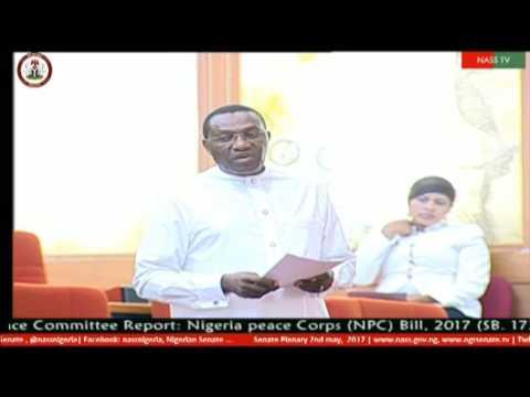 Senator Andy Uba Speaks on Peace Corps Bill.