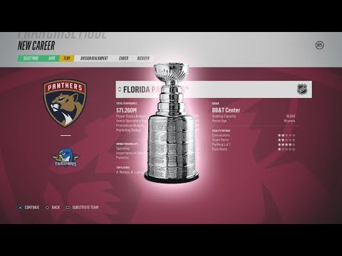 Can The Panthers Win the Cup in The FIRST YEAR? NHL 18