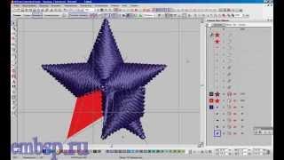 Урок компьютерной машинной вышивки. Звезда. Wilcom EmbroideryStudio
