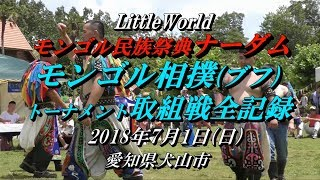 2018.7/1(日) LittleWorld ナーダム 『モンゴル相撲(ブフ)16名力士の...
