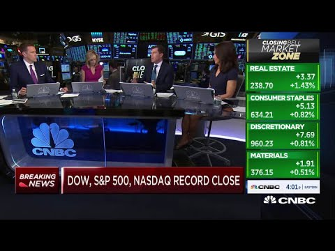 Dow, S&P 500 and Nasdaq close at record highs