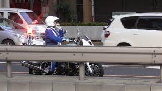白バイ神対応!違反しそうな対向車にマイクで警告&交通機動隊が何度も注意するも無視し続けた違反車に怒りの緊急走行炸裂!白バイ隊員フォーカス編!Motorcycle police thumbnail